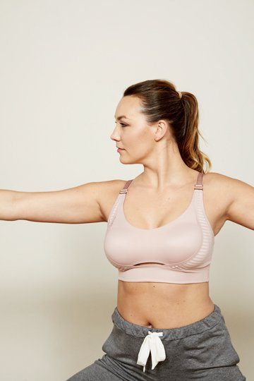 blush yoga sport bra