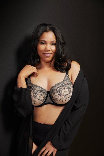 nude black unlined bra
