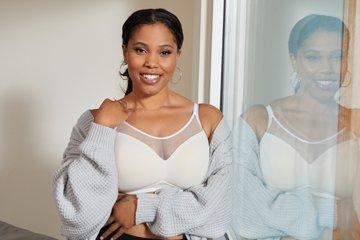 white sheer bra