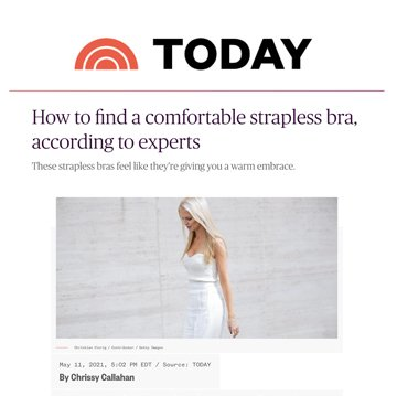 Today: How to find a comfortable strapless bra, according to experts